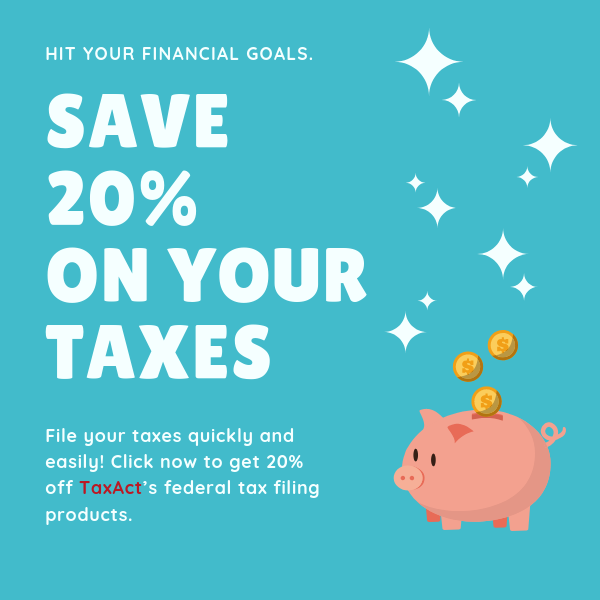 20% discount for TaxAct