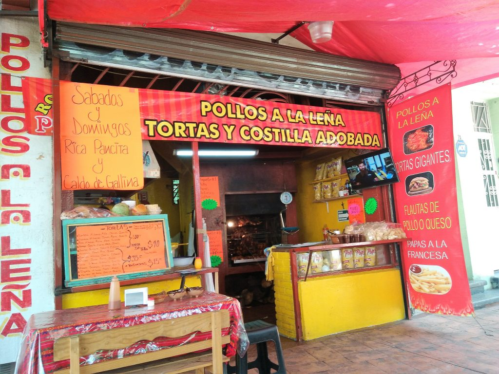 Street food stand for tortas in Mexico