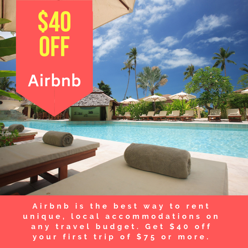 $40 discount for Airbnb